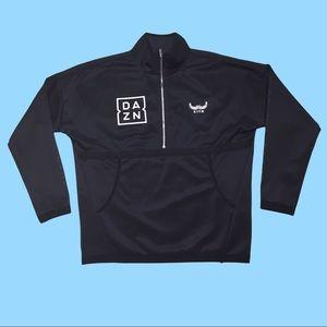 KITH x DAZN Black Half Zip Pullover Track Jacket L